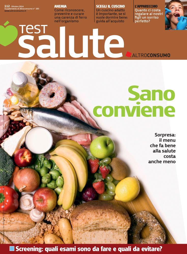 Test Salute n. 112, ottobre 2014: sapone di marsiglia, alimentazione sana, ortodonzia, BB cream...