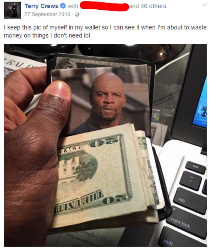 Terry Crews and his wallet - Album on Imgur