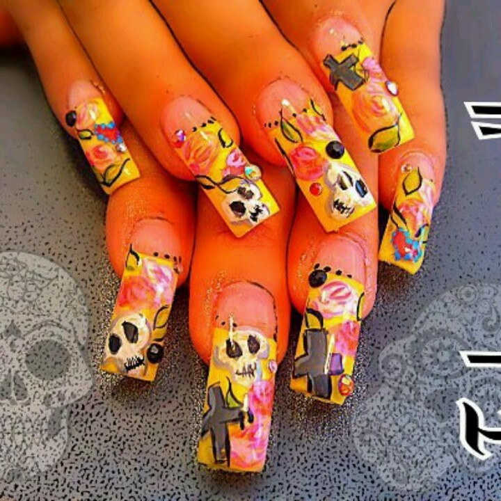 28 best NAILS- Crazy Funky images on Pinterest | Acrylic nail ...