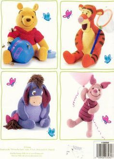 Amigurumi Winnie the Pooh and Friends - FREE Crochet Pattern / Tutorial in ENGLISH (click on arrows to get to pattern)