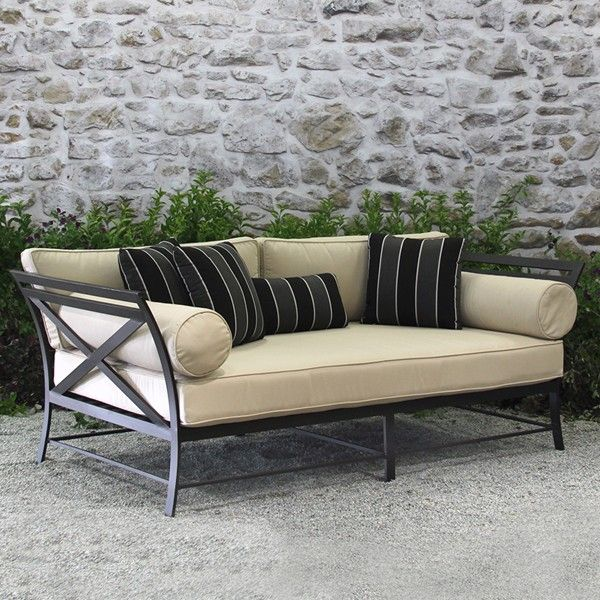 An outdoor daybed is the ultimate in decadent indulgence. Our daybeds are made from the finest materials, including metal and sunbrella outdoor cushions. Tell the world you've arrived with a full size daybed in your patio collection. Modern outdoor furniture, sale prices.
