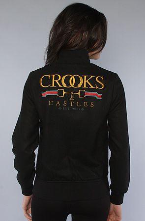 Crooks and Castles The Hi Luxe Stadium Jacket $130.00
