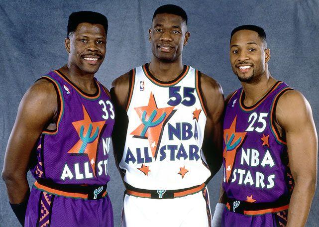 Patrick Ewing, Dikembe Mutombo and Alonzo Mourning  1995