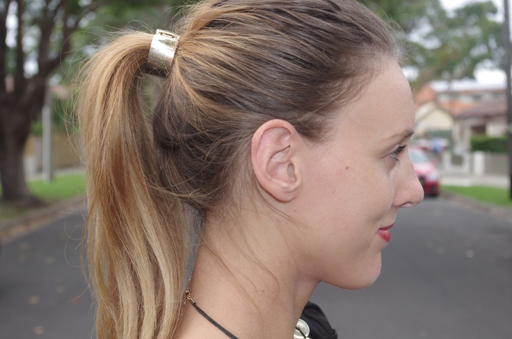 This is my ultimate hair accessory! I wear a hair-cuff on a daily basis! Love how it can transform a simple school-girl ponytail into a chic corporate style <3     View more on the blog now   http://sydneycorporate.blogspot.com.au/2013/05/all-tied-up.html