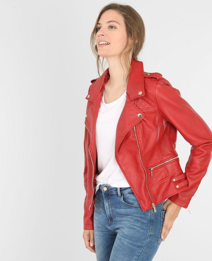 Jacke im Biker-Stil - Die bekannte Biker-Jacke im Rocker-Stil, hier in einer peppigen V...