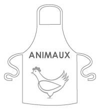 tablier animaux