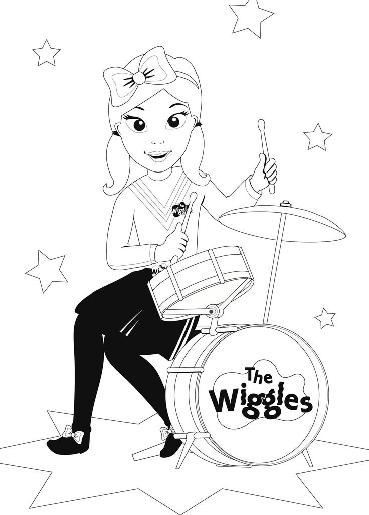 Colouring Emma Band Treehouse Wiggles Wiggles