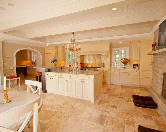 stunning travertine tiles kitchen images - best image engine