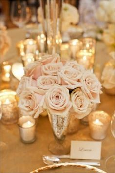 Gold mixed with blush and neutral tones. Wedding Theme Colors,