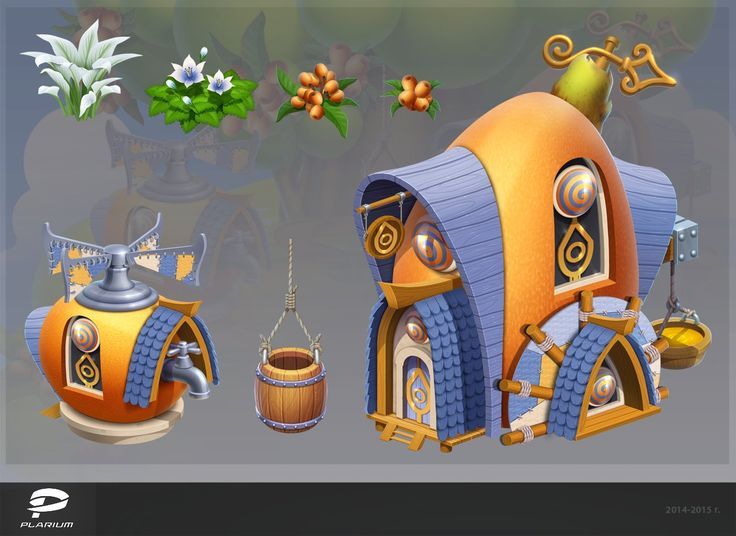 ArtStation - Building concept for the game Fruit Land , Tetyana Levina