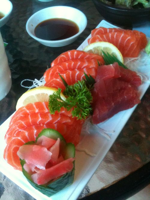 Sashimi is often served onboard private jets. Two day VIP flight attendant…