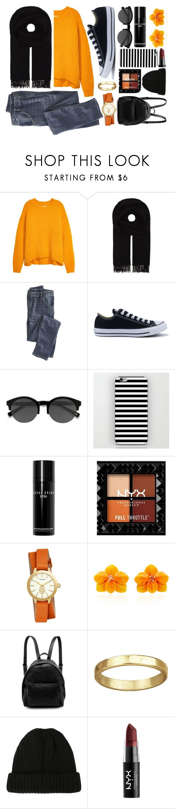 """Fall Sweater"" by bobklug ❤ liked on Polyvore featuring Canada Goose, Wrap, Converse, EyeBuyDirect.com, Bobbi Brown Cosmetics, Tory Burch, Sabbadini, STELLA McCARTNEY, Hot Topic and NYX"