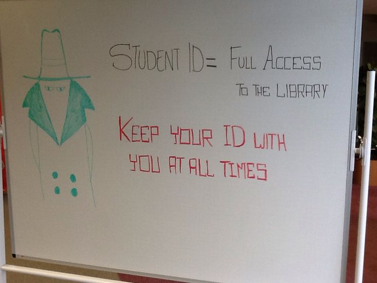 Don't forget your Student ID when you come to the Library. You will need it to borrow and access the place and resources.