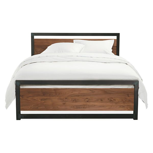 """Room & Board - Piper Bed Wood Panels $1,149.00 Dimensions: 61""""w 85""""d 36""""h Headboard Height: 36""""h Footboard Height: 20""""h Floor to Bottom of Mattress: 11.5""""h Underbed Clearance: 61""""w 81""""d 10""""h"""