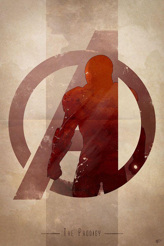 Anthony Genuardi - Avengers Logo - Iron Man