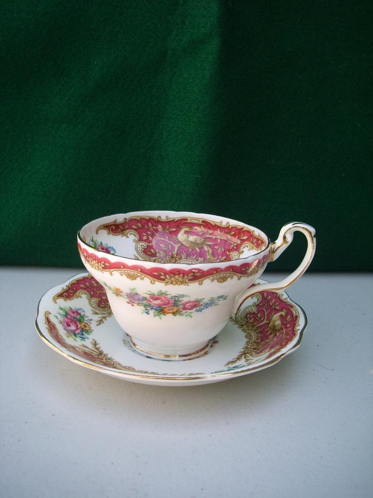 Foley E Tea Cup and Saucer. $20.00, via Etsy.