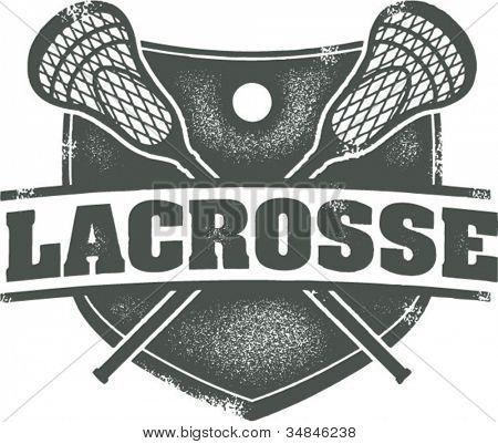 Vintage Lacrosse Sport Crest