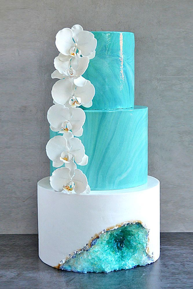 Be in trend! Geode Wedding Cakes For Stylish Event ❤ Geode wedding cakes have become bridal must-haves this season. See more: www.weddingforwar... #wedding #cakes