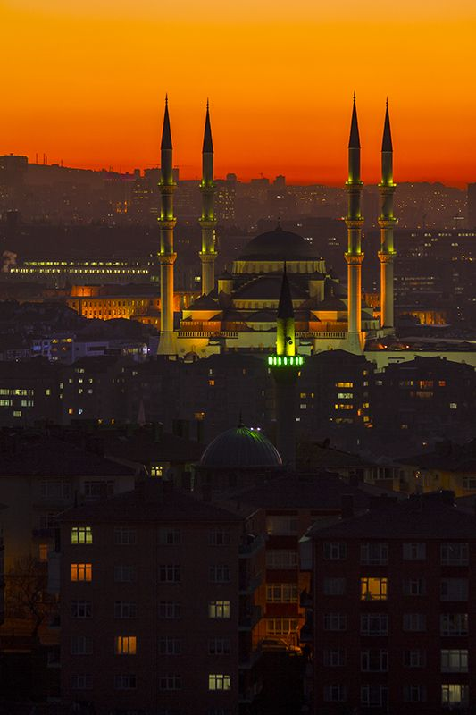 Ankara night, Turkey