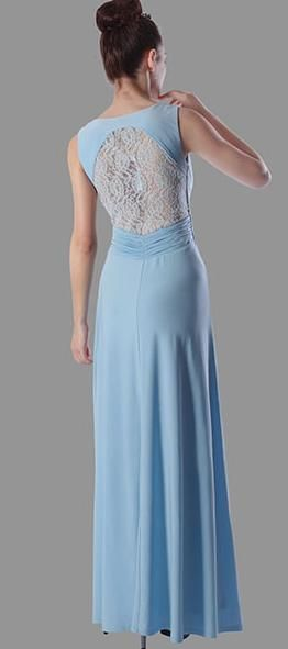 BM202 elegant with V neck front  and lace back.  $295 to buy and $195 to hire (for a new gown)