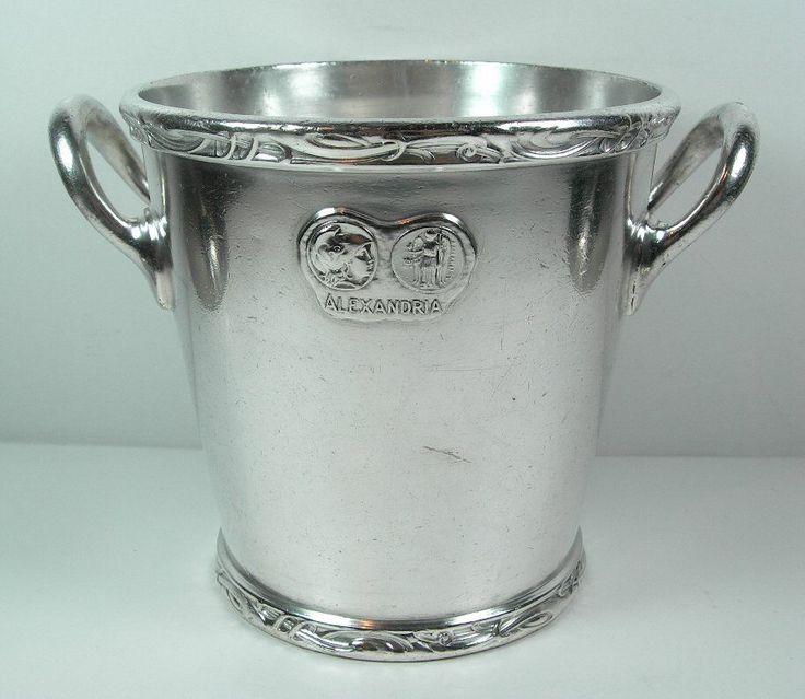 Alexandria Hotel - Los Angeles - 1910 Era - Ultra Rare Hotel Silver Ice Bucket