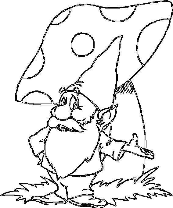 garden gnomes coloring pages | Free Gnome Coloring Pages