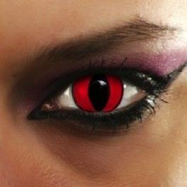 Red Cat Eye Coloured ContactsRed Cat Eye Contacts