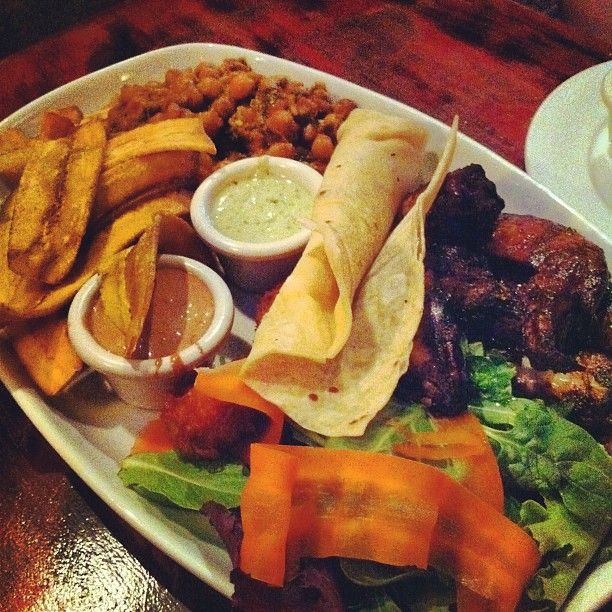 The Reef offers Caribbean style food, such as jerk chicken and plantains. There are two locations, one on Main Street and one on Commercial Drive.