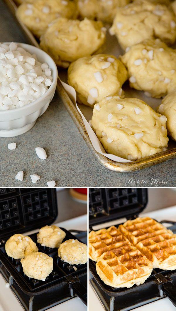 traditional liege waffle recipe ****  Heerlijk 9! maar heel tijdsintensief! 1 recept kan voor meerdere malen (2/3) gebruikt worden en rauw ingevroren worden****