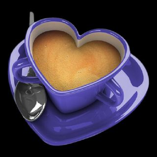 heart shape coffee cup