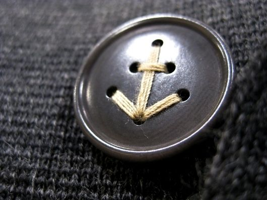 Button ~ it's in the details.Anchors Aweigh, Anchors Buttons, Ideas, Fashion, Details, Style, Clothing, Nautical, Crafts