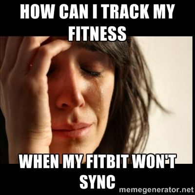 How can I track my fitness when my Fitbit won't sync?