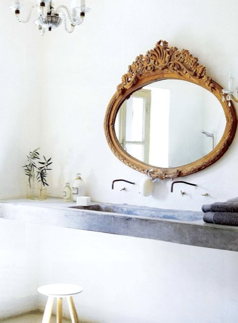 .Bathroom Design, Bathroom Mirrors, Vintage Mirrors, Bathroom Interior, Modern Bathroom, Rustic Bathroom, Antiques Mirrors, Sinks, Design Bathroom