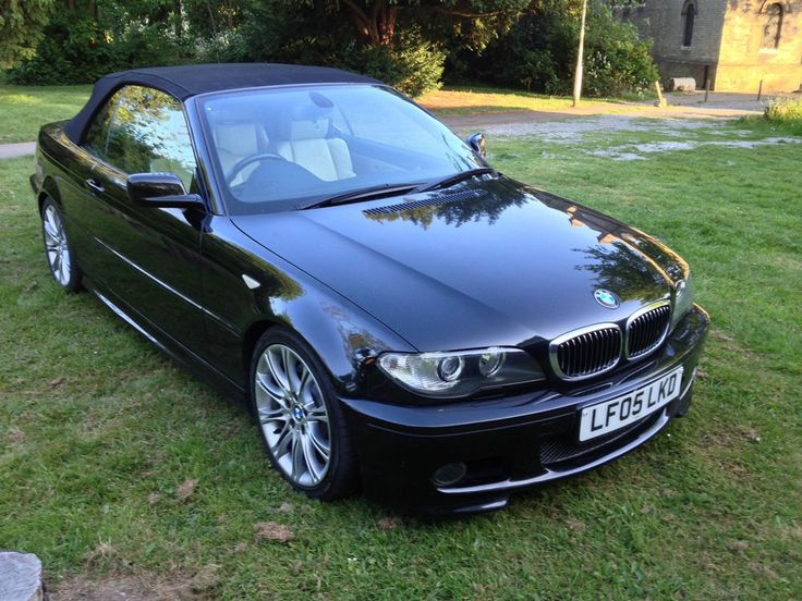 2005 BMW 330 CI  SPORT RARE INDIVIDUAL MODEL BLACK  IVORY LEATHERLOW MILEAGE