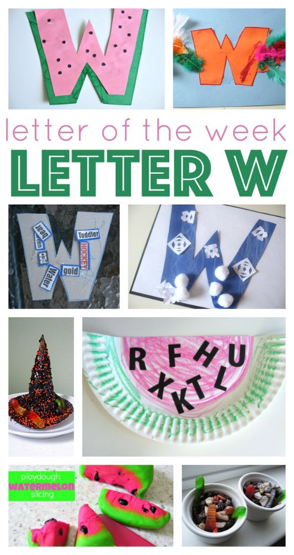 letter w ideas for letter of the week