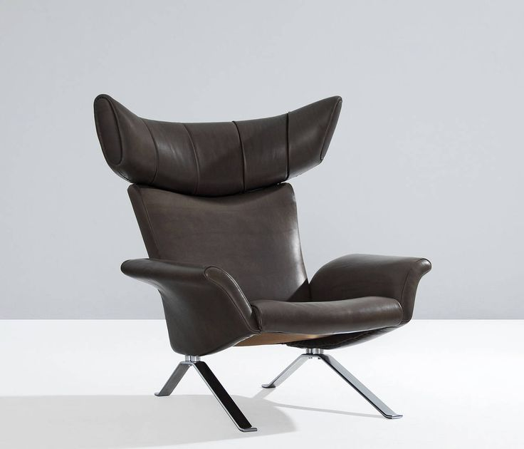 Ox Lounge Chair With Leather Upholstery Denmark 1960s