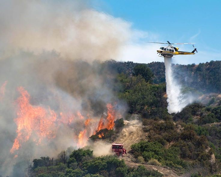 FEATURED POST  @lacofireairops -  BRUSH FIRE 7/13/17 A @LACoFireAirOps helicopter makes a water drop to support a @lacountyfd bulldozer working to catch the #TowsleyFire as it raced up a dry hillside near Santa Clarita CA. The coordinated attack between air and ground resources helped achieve a quick stop of the fire at approximately 20 acres. The response was a team effort by @lacountyfd @lacofireairops @losangelesfiredepartment @u.s.forestservice @mrcaparks @scvsheriff…