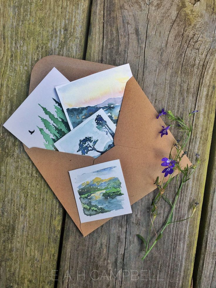 Original Miniature Watercolor Painting Grab Bag! Assorted Miniature Landscape and Nature Artworks by MaranathaArtMarket on Etsy https://www.etsy.com/listing/523235808/original-miniature-watercolor-painting