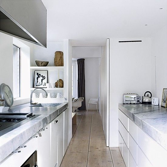 1000 ideas about white galley kitchens on pinterest for Very narrow galley kitchen
