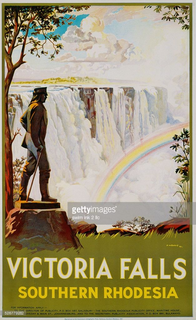 Vintage Great Zimbabwe Rhodesia Tourism Poster A3 Print