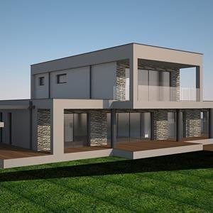 Villa di design in realizzazione in provincia di Varese #design #bioedilizia #villa