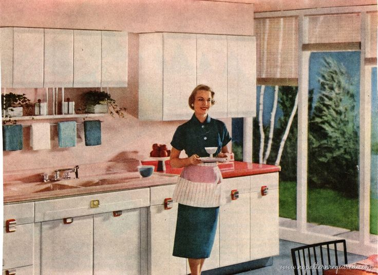 1950 Kitchens 316 best pink kitchens images on pinterest | pink kitchens, retro
