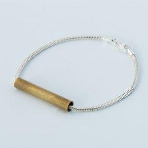 Elin bracelet in silver and brass.
