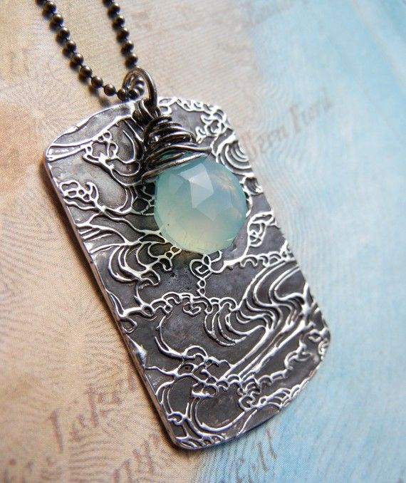 Serenity necklace--etching!