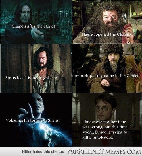 It's so funny because the whole book I was sure he was wrong about Draco. The Half Blood Prince is still my favorite though.