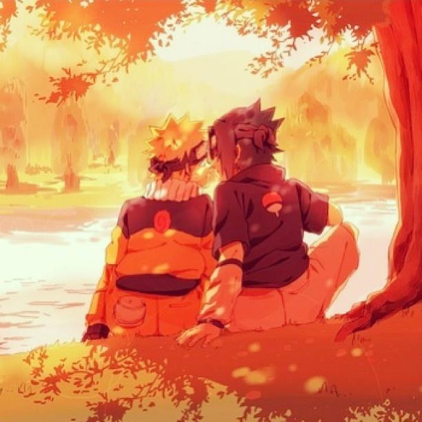 Sasunaru: Sunset on the riverbank