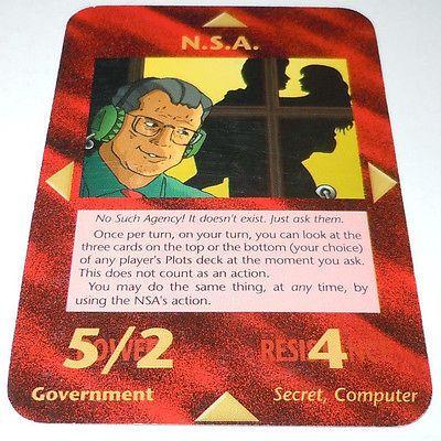 NSA Illuminati New World Order Card NWO N s A CCG TCG Game RARE ...
