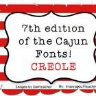 This is my seventh edition of fonts for teachers. I am from the south, so I am naming the fonts with cajun names. This seventh font is called: CREO...