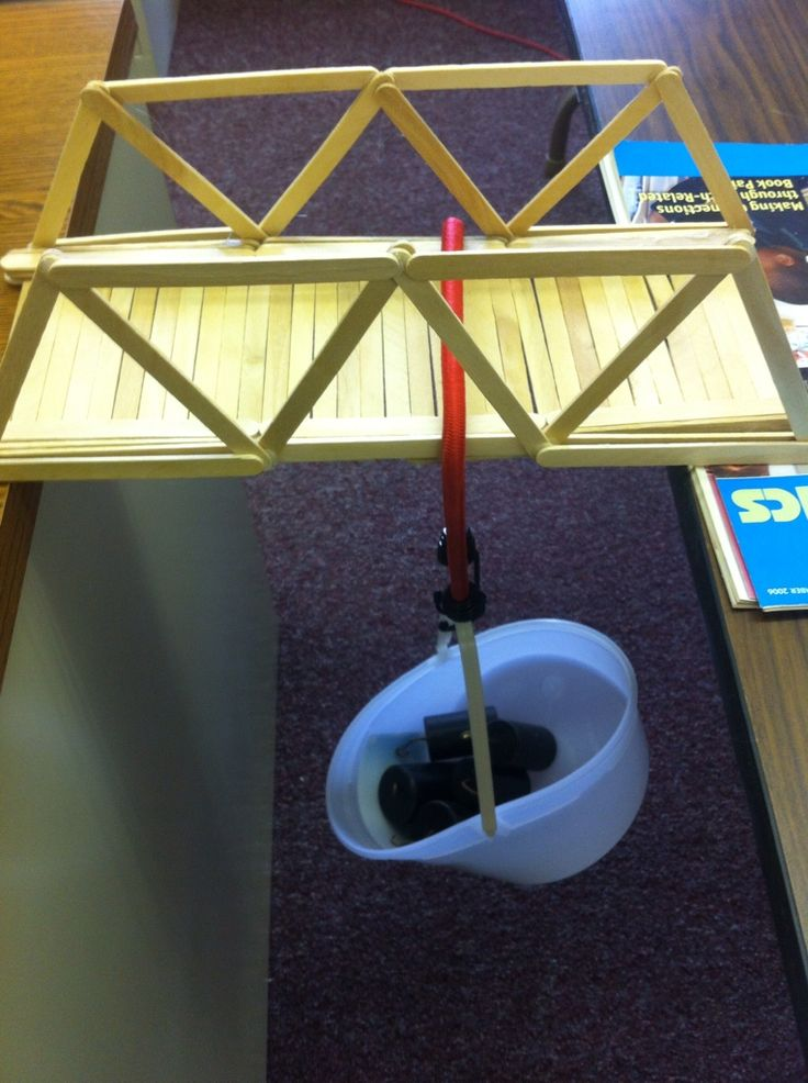 Building a truss bridge with toothpicks woodworking for Ideas for building with popsicle sticks