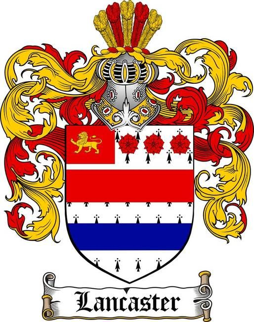 LANCASTER FAMILY CREST - COAT OF ARMS gifts at www.4crests.com